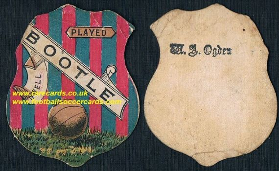 1880s Liverpool Everton interest card Bootle FC by Sharpe Briggs